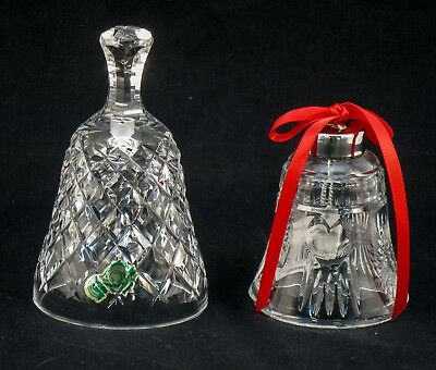 LOT OF 2 WATERFORD CRYSTAL BELLS  b48c ST135