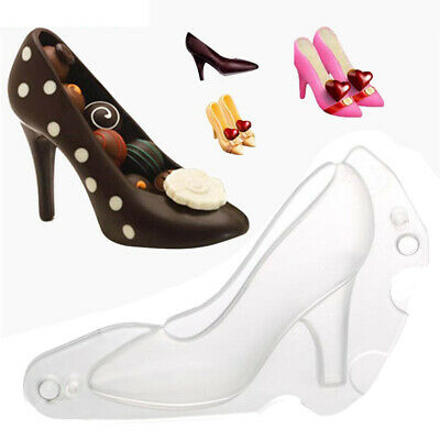 Plastic Clear High Heel Shoe Chocolate Mould DIY Cake 3D Candy Molding Make Tool