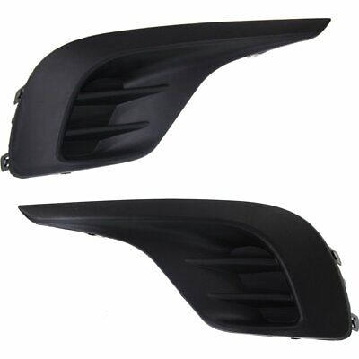 TO1039153, TO1038153 Right+Left Side New Fog Light Covers Set of 2 LH & RH Pair
