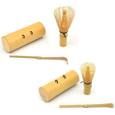 3Pcs Bamboo Chasen Japanese Powder Whisk Green Tea Preparing Matcha Brush Tool