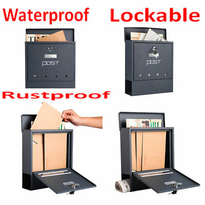 Large Letter Mail Box Mailbox Postbox Wall Mounted Lockable Rustproof Waterproof