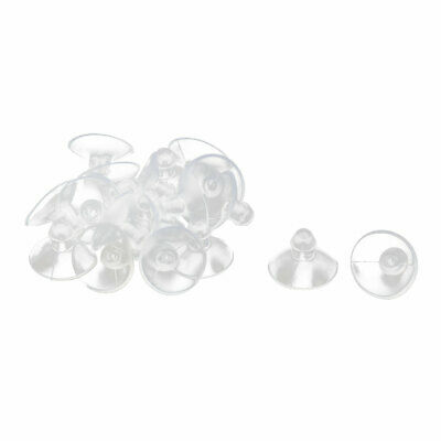 20x Sucker Hanger PVC Suction Cups Glass Pad For Home Table Desk 18mm Practical