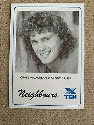 1989 Star PR Card Network 10 NEIGHBOURS - Craig McLachlan As HENRY RAMSAY