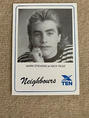 1989 Star PR Card Network 10 NEIGHBOURS - Mark Stevens  as NICK PAGE