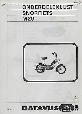 Repair/Manual/Technical Info Parts list Moped Batavus M20 05/1976 Reprint