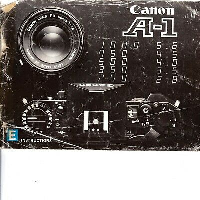 Genuine Original Canon  Camera Instructions Manual  A-1