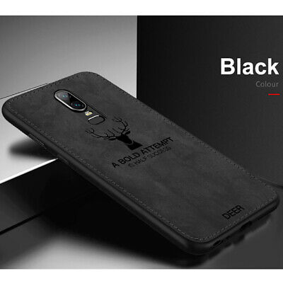 For OnePlus 6 1+6 Cloth Texture Case TPU Silicone Matte Hybrid Case Back Cover