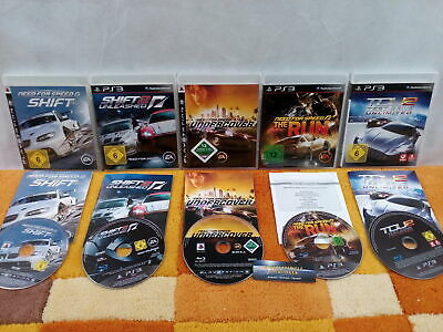 5X Need for Speed !! Shift 1 + 2 / Undercover / The Run / TDU 2  Test Drive PS3