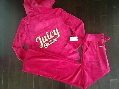 bf5da2154 NWT JUICY COUTURE velour pink hoodie and pants set xs pants s top SOLDOUT!  - $76.49 | PicClick