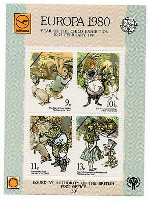 GB 1979 Year of the Child Europa 1980 overprint miniature sheet MNH stamps
