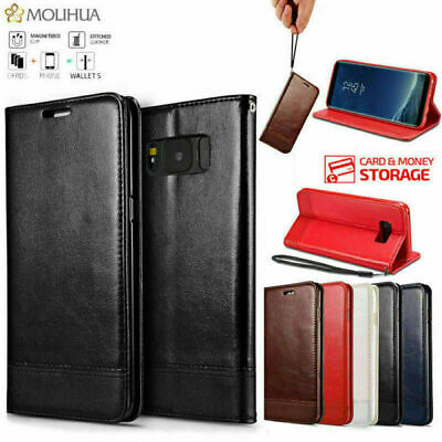 Case for Samsung S8 S8 Plus Magnetic Leather Flip Wallet Phone Stand Cover UK