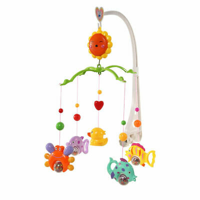 Baby Infant Cute Crib Mobile Bed Bell Holder Arm Bracket Wind-up Music Box