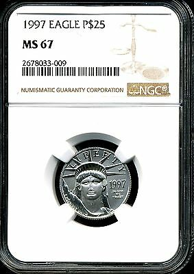 1997 P$25 Platinum 1/4 oz American Eagle MS67 NGC 2678033-009
