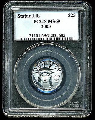 2003 P$25 Platinum 1/4 oz American Eagle MS69 PCGS 72035683
