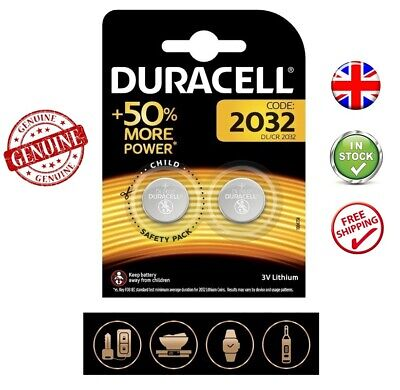 2-Pack Duracell CR2032 3V Lithium Button Batteries Coin Cell DL2032 Expiry 2028
