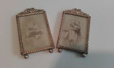 Antique 1900s Brass with Ribbon detailing  Picture / photograph Frames.
