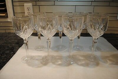 Vintage Waterford Marquis Markham Crystal Water Goblet Set Of 8 Signed