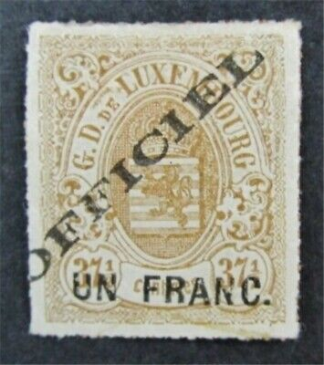 nystamps Luxembourg Stamp # O10 Mint OG H $150