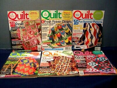 LOT of 6 QUILT MAGAZINES COMPLETE YEAR 2009 FEB. / MARCH - DEC. / JAN. 2010  VGC