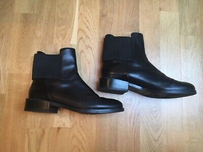 NEW Clarks Womens Leather Ankle Chelsea boots MARQUETTE WISH Black Pull On