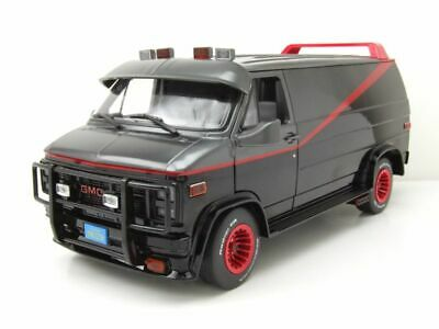 GMC Vandura A-Team Van 1983 TV-Serie grau schwarz Modellauto 1:18 Greenlight