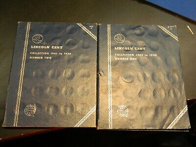 Penny Wheat Lincoln Cent Collection No Key Dates 1909 To 1974 2 Albums Estate