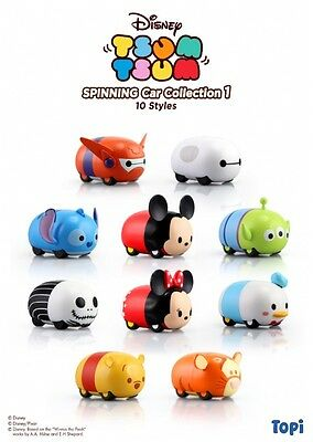 Disney Tsum Tsum Spinning Car Collection 1 Mice 10 Styles New