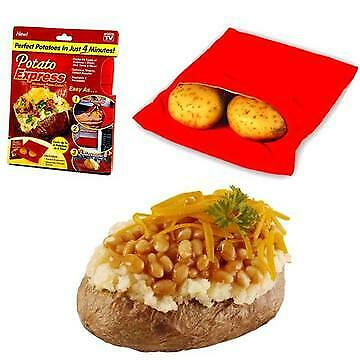 Potato Express Bag Baked Microwave Cooke Reuseable Bags Washable Cooking Kitchen