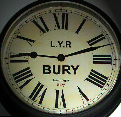 Lancashire & Yorkshire Railway Victorian Style Waiting Room Clock, Bury Station
