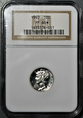 1940 10C Proof Mercury Dime, Certified By Ngc Pf66* (Star),   Cc40