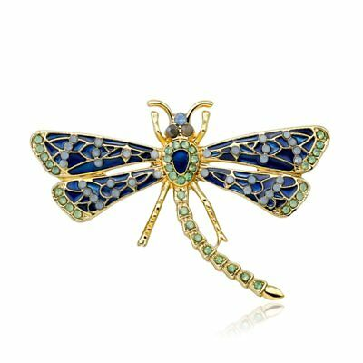 Fashion Rhinestone Crystal Dragonfly Insect Brooch Pin Women Party Jewellery Hot