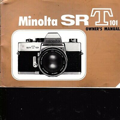 Genuine Original Camera Instruction Manual Minolta Sr T 101 Srt101 Gold Cover
