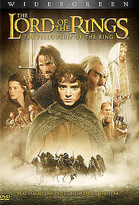 The Lord of the Rings Fellowship of the Ring (DVD, 2002, 2-Disc Set  Elijah WOOD