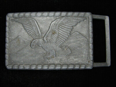 QL17103 VINTAGE 1980s **AMERICAN BALD EAGLE** COMMEMORATIVE BELT BUCKLE