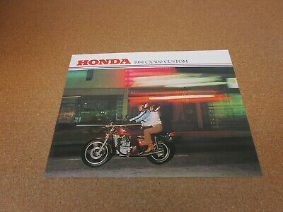 ORIGINAL 1981 Honda CX500 Custom motorcycle sales brochure literature 4 page