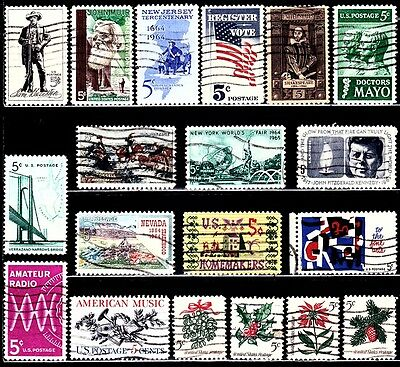 Very Nice US year of 1964 Commemorative stamps (used)