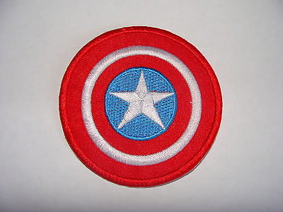 Patch Ecusson Brode Thermocollant Bouclier Captain America