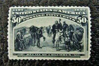 nystamps US Stamp # 240 Mint OG H $500