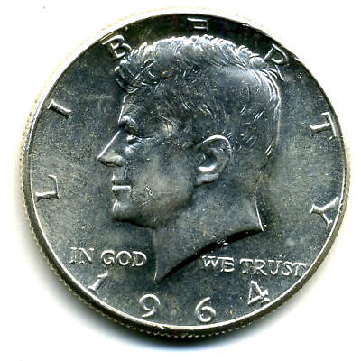 1964 P Choice Bu Kennedy Half Dollar 90% Silver Uncirculated 50 Cent Coin#4794