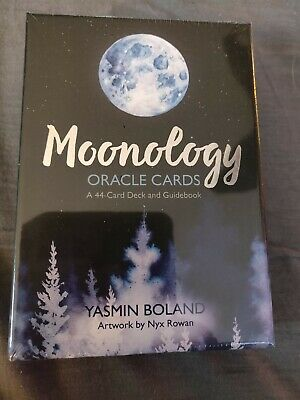 Moonology Oracle Cards: A 44-Card Deck and Guidebook by Yasmin Boland NEW Free S