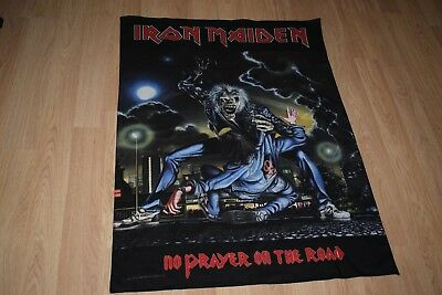 "Iron Maiden ""No Prayer On The Road"" Official 1990 Flag Saxon Metallica Anthrax"