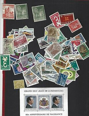 LUXEMBOURG sc#295 #296 x2 (1953) USED  + Nice lot