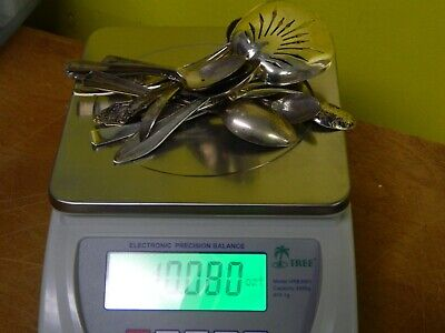SCRAP Sterling Silver 10 ++ ozt EARLY SPOONS AND MORE RESALE