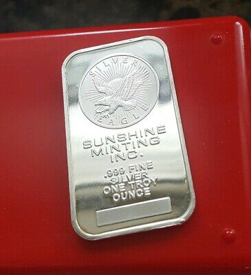 "Sunshine Minting ""Silver Eagle"" - 1 troy oz .999 Fine Silver Bullion Bar"