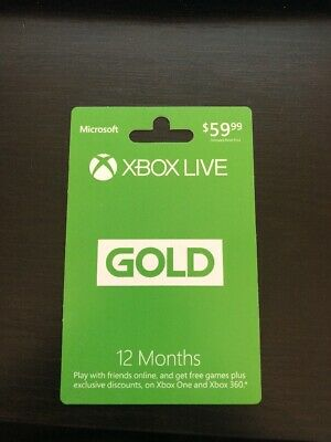 Microsoft - Xbox Live 12 Month Gold Membership