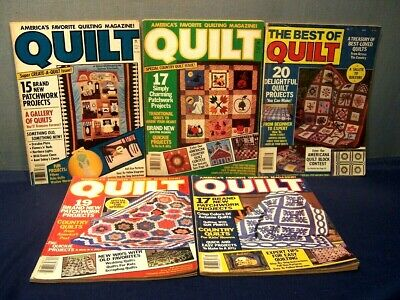 LOT of 5 VINTAGE QUILT MAGAZINES FALL 1981 1982 1984 BEST 1982 SPRING 1983  VGUC
