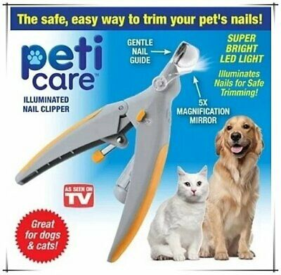 Hot Sale Peti Care Pet Nail Clipper Great for Cats & Dogs LED Light Nail Trimmer