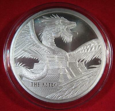 The Aztec 1 oz Silver Round KEY DATE #1 of World of Dragons Series 30,000 Minted