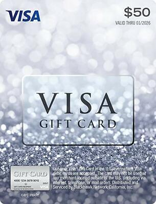 """$50 Gift Card """"No Hidden Fees After Purchase"""" Brand New"""
