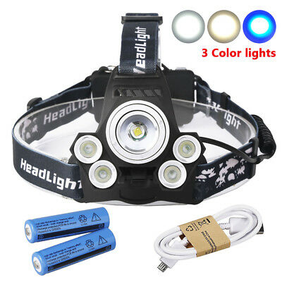 Garberiel 4-mode 80000LM Headlamp Head Lamp Headlight Torch+Rechargeable Battery